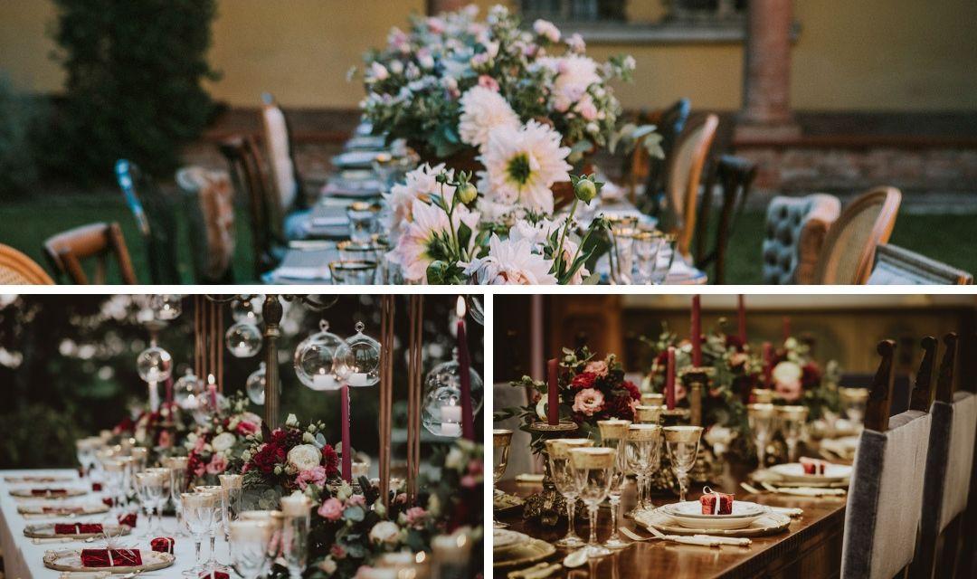 Come organizzare un tavolo imperiale perfetto per le tue nozze