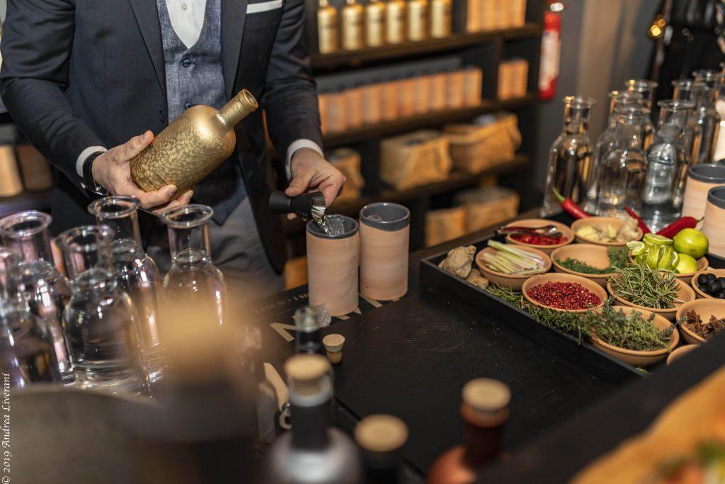 gin, bicchieri coccio, food experience, 5 sensi
